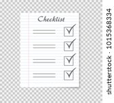 checklist concept. to do list... | Shutterstock .eps vector #1015368334