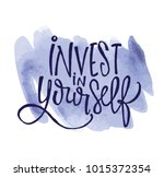 invest in yourself   hand drawn ... | Shutterstock .eps vector #1015372354