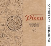 vertical background with pizza...