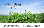 agriculture drone fly to... | Shutterstock . vector #1015388026