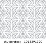 abstract grey ornamental pattern | Shutterstock .eps vector #1015391320