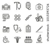 medical icon set with white... | Shutterstock .eps vector #1015393726