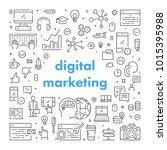 vector line web banner for... | Shutterstock .eps vector #1015395988