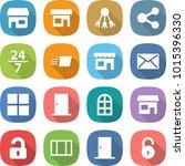 flat vector icon set   shop...   Shutterstock .eps vector #1015396330