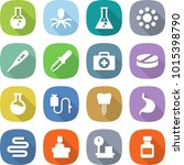 flat vector icon set   round... | Shutterstock .eps vector #1015398790