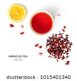 creative layout made of cup of... | Shutterstock . vector #1015401340