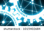 project and management text on... | Shutterstock . vector #1015402684