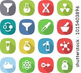 flat vector icon set   funnel... | Shutterstock .eps vector #1015403896