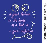 a great fortune in the hands of ... | Shutterstock .eps vector #1015405243