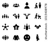 origami style icon set   group... | Shutterstock .eps vector #1015408978