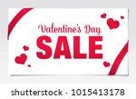 valentine's day sale banner... | Shutterstock .eps vector #1015413178