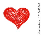 valentine s day hand drawn red... | Shutterstock . vector #1015415068