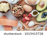 keto  ketogenic diet  low carb  ... | Shutterstock . vector #1015415728