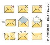 set of orange flat envelopes...