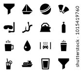 origami style icon set   funnel ... | Shutterstock .eps vector #1015419760