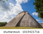 ancient city in the jungle.... | Shutterstock . vector #1015421716