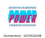 italic serif bulk font in the... | Shutterstock .eps vector #1015426348
