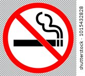 no smoking  sign or sticker.... | Shutterstock .eps vector #1015432828