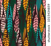 tribal seamless pattern with... | Shutterstock .eps vector #1015434859