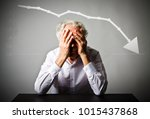 old man in thoughts. old man in ... | Shutterstock . vector #1015437868