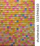 wallpaper made of sticky notes | Shutterstock . vector #1015446610