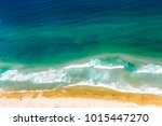 coastline of gold coast... | Shutterstock . vector #1015447270