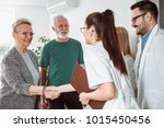 group of young doctor during... | Shutterstock . vector #1015450456