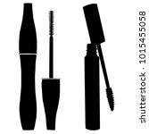 mascara brush icon vector.... | Shutterstock .eps vector #1015455058
