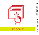 line file access vector icon | Shutterstock .eps vector #1015456114