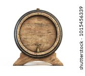Wooden Barrel Front View...