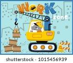 heavy equipment cartoon vector. ... | Shutterstock .eps vector #1015456939