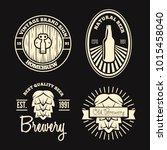set of vintage logo  badge ... | Shutterstock .eps vector #1015458040
