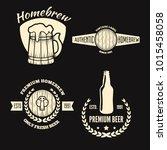 set of vintage logo  badge ... | Shutterstock .eps vector #1015458058