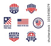 vector set of made in the usa... | Shutterstock .eps vector #1015458079
