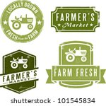 farmer's market fresh and local | Shutterstock .eps vector #101545834