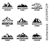 set of mountain icons isolated... | Shutterstock .eps vector #1015459129