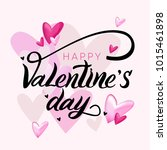 inscription happy valentine's... | Shutterstock .eps vector #1015461898