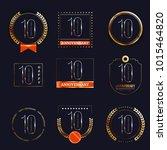 10 years anniversary logo set.... | Shutterstock .eps vector #1015464820