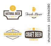 set of vintage logo  badge ...   Shutterstock .eps vector #1015466380