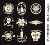 set of vintage logo  badge ... | Shutterstock .eps vector #1015466398