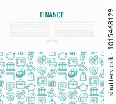 finance concept with thin line... | Shutterstock .eps vector #1015468129