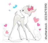 animal illustration cute little ... | Shutterstock .eps vector #1015475590