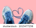 shoelaces with heart sign  love ... | Shutterstock . vector #1015477258