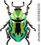 green bug low poly | Shutterstock .eps vector #1015483210