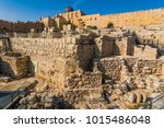 city of david  jerusalem ... | Shutterstock . vector #1015486048