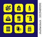 medical vector icon set. band... | Shutterstock .eps vector #1015489090