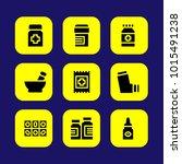 medical vector icon set. mortar ... | Shutterstock .eps vector #1015491238