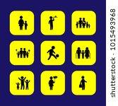 humans vector icon set. mother  ... | Shutterstock .eps vector #1015493968
