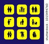 humans vector icon set. couple  ... | Shutterstock .eps vector #1015494760