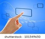 hand push a touch screen button ... | Shutterstock . vector #101549650